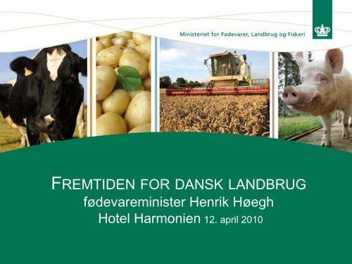 Ministeroplæg ved Gråsten Landbrugsskole 12. april 2010