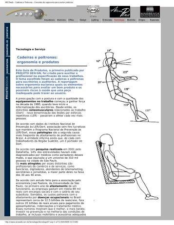 ARCOweb - Cadeiras e Poltronas - Histeo.dec.ufms.br