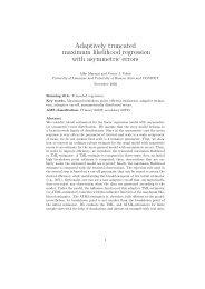Adaptively truncated maximum likelihood regression with ... - IUMSP