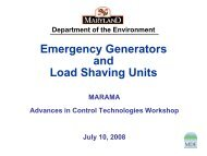 Emergency Generator and Load Shaving Units - MARAMA