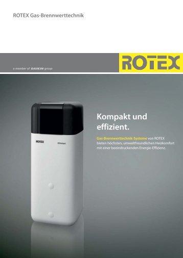 ROTEX Gas-Brennwerttechnik Kompakt und effizient.