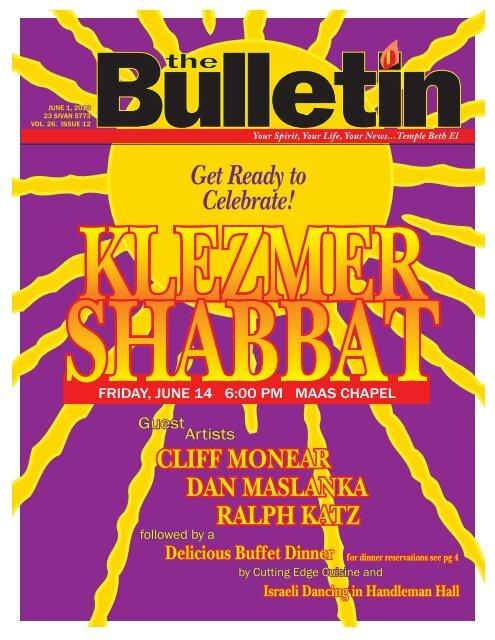 June Bulletin 2013.indd - Temple Beth El