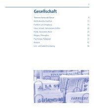 Ge sell schaft - vhs Frankfurt - Frankfurt am Main