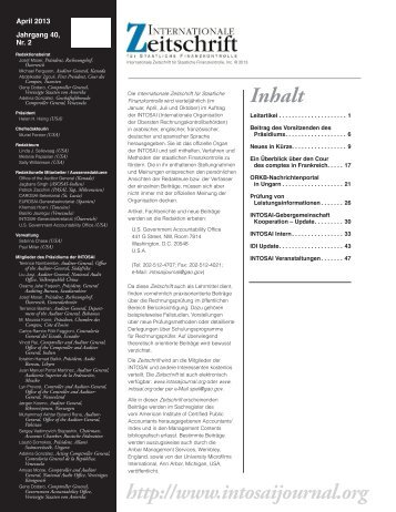 30 free Magazines from INTOSAI.ORG