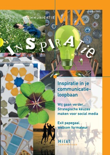 inspiratie in je communicatie- loopbaan - Van der Hilst Communicatie