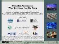 Motivated Adversaries: What Operators Need to Know - I3P