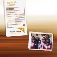 kenia - World Vision