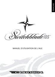 MANUEL D'UTILISATION DE L'AILE - Cabrinha