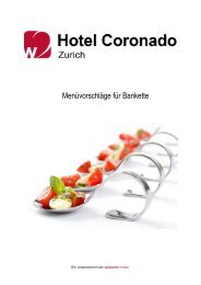 Bankett- und Menuvorschläge vom Hotel Coronado - Welcome ...