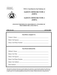 Safety Officer Type 1 - National Wildfire Coordinating Group