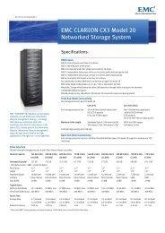 EMC CLARiiON CX3 Model-20 Specification Sheet - EMC Centera