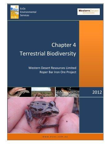 4 Existing Environment – Terrestrial Biodiversity - Western Desert ...