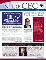 2013 1st EDITION - CEC