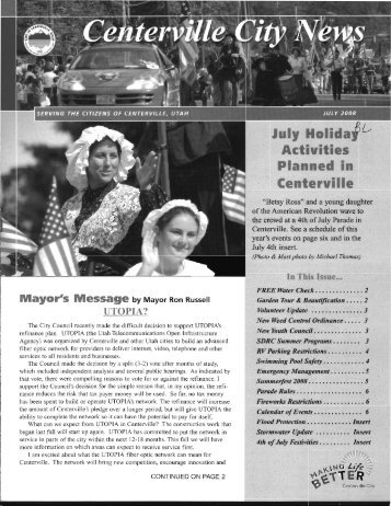 July - Centerville City Website