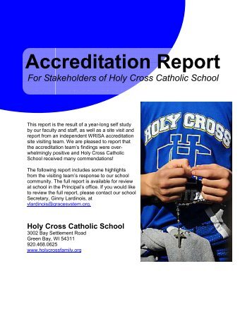 ACCRED_REPORT FOR PUBLIC - Holy Cross Catholic School