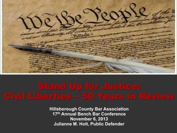 Civil Liberties - Hillsborough County Bar Association
