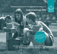 VDK Volkstrauertag 2003.qxp