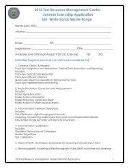 2013 Test Resource Management Center Summer Internship ...