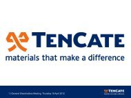 Presentation annual meeting of shareholders 2012 - TenCate
