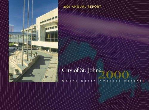 City of St. John's 2000 Annual Report
