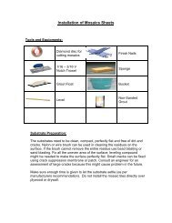 Mosaic Installation Guide - MSI Stone