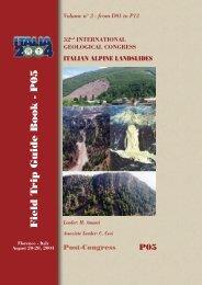 P05 - Centro di Documentazione della Società Geologica Italiana