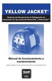 Manual de funcionamiento y mantenimiento - Yellow Jacket