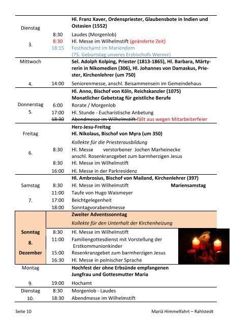 Pfarrbrief - Katholische Pfarrgemeinde Mariä Himmelfahrt