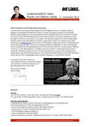 Newsletter vom 11. Dezember 2013 [pdf] - DIE LINKE. Main-Kinzig