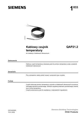 1833 Kablowy czujnik temperatury QAP21.2 - ALPAT