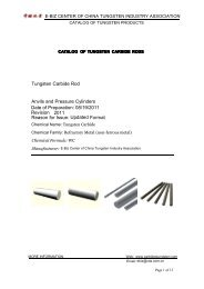 Tungsten Carbide Rod Anvils and Pressure Cylinders Revision ...