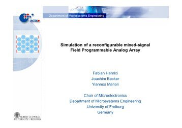 Simulation of a reconfigurable mixed-signal Field Programmable ...