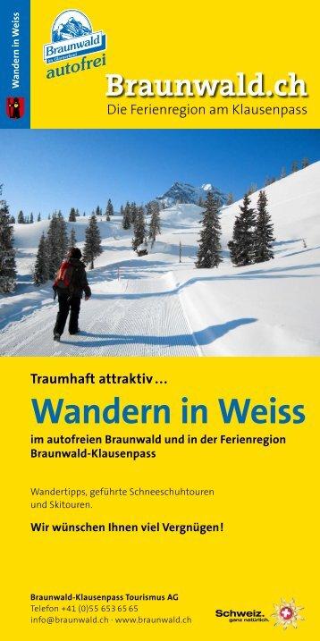 Wandern in Weiss - Gadmin.ch