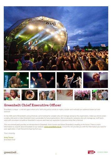 Greenbelt Chief Executive Officer - Greenbelt Festival