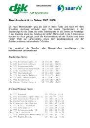 Abschlussbericht zur Saison 2007/2008 als pdf-Datei