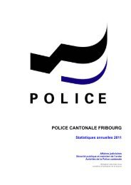 Statistiques - Police cantonale Fribourg