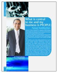 What is central to me and my business is PEOPLE: - Metalworld.co.in