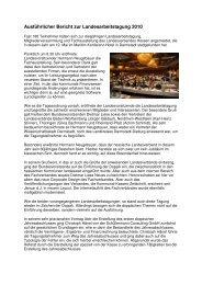können Sie den ausführlichen Bericht zur Landesarbeistagung 2010 ...