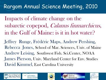 Impacts of climate change on the subarctic copepod ... - rargom