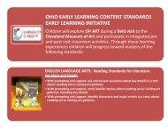 Curriculum Aligned to Ohio Pre-K Standards - University Circle