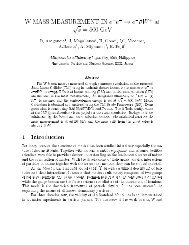 e^{-} \rightarrow e^{-}\bar{\nu}W - ACFA Joint Linear Collider Physics ...