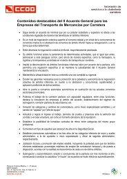 II Acuerdo general para las empresas del transporte de mercancías ...