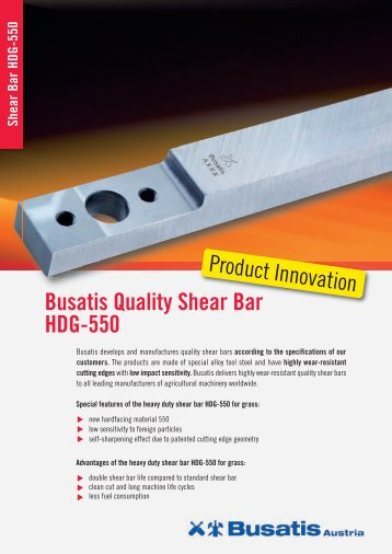 Busatis Quality Shear Bar HDG-550