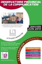 JANVIER JUIN 2013 - La Province de Hainaut