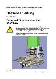 und Einpressmaschine ECOFLEX - Grass