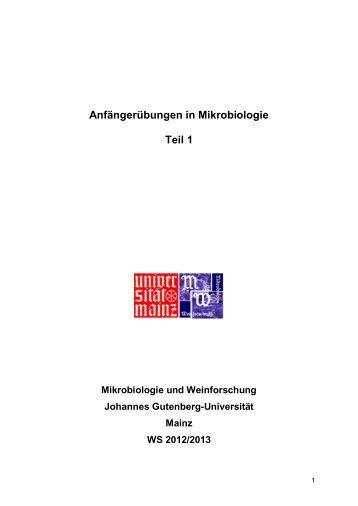 Skript - Mikrobiologie und Weinforschung - Johannes Gutenberg ...