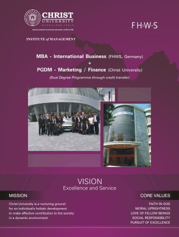 MBA German BROCHURE JAN 2012 final - Christ University