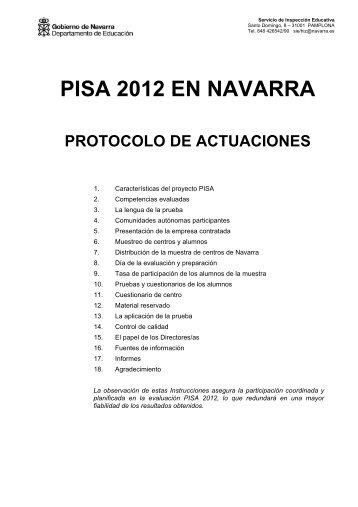 PISA 2012 EN NAVARRA - Departamento de Educación - Navarra