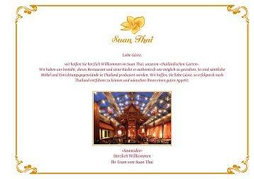 Sawasdee« Herzlich Willkommen Ihr Team vom Suan Thai