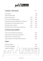 Vorspeisen / Kalte Gerichte Auf buntem Fitness ... - Petit Palace
